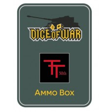 British 50th (Northumbrian) Infantry Division Ammo Box - Dice Tin