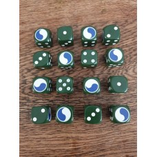 "WW2 Dice - US 29th Infantry Division ""Blue and Gray"" Dice"