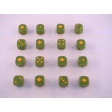 WW2 Dice - 4th Canadian Armoured Division Dice