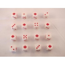 WW2 Dice - Generic Canadian Maple Leaf Dice