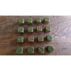 "WW2 Dice - US 1st Infantry Division ""Big Red 1"" Dice"