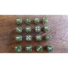 WW2 Dice - British Commonwealth Gurkha Dice