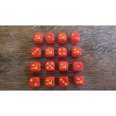 WW2 Dice - Soviet Hammer and Sickle Dice
