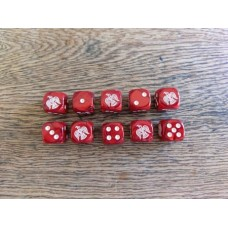 Ancients Dice - Viking Raven Red