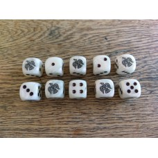 Ancients Dice - Viking Raven White / Pearl