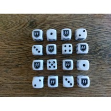 WW2 Dice - Generic SS White Dice