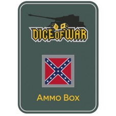 American Civil War - Confederate Dice & Tin Set