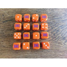 American Civil War - Confederate Dice Orange