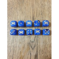 Ancients Dice - Roman SPQR Blue with Gold Pips