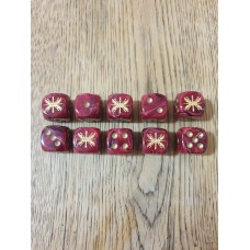 Ancients Dice - Roman SPQR with Gold Pips