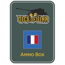 Napoleonic Dice - French Tricolour Dice & Tin Set