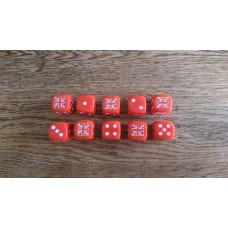 Napoleonic Dice - 10 British Union Jack Dice