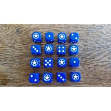 WWIII Dice - Blue Allied Star Dice