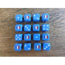 WW2 Dice - French Tricolour Dice
